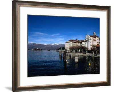 Palazzo Borromeo and Isola Di Pescatori in Background, Lago Maggiore, Italy-Martin Moos-Framed Photographic Print