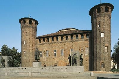 Palazzo Madama and Monument to Emanuele Filiberto Duca D'Aosta--Photographic Print