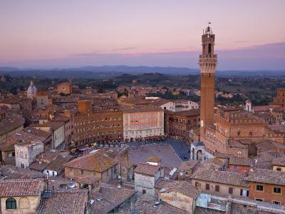 Palazzo Publico and Piazza Del Campo, Siena, Tuscany, Italy-Doug Pearson-Photographic Print