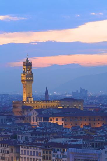 Palazzo Vecchio from Piazzale Michelangelo-Neil Farrin-Photographic Print