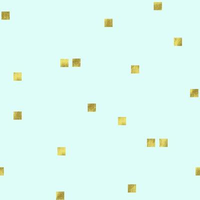 Pale Aqua Golden Squares Confetti-Tina Lavoie-Giclee Print