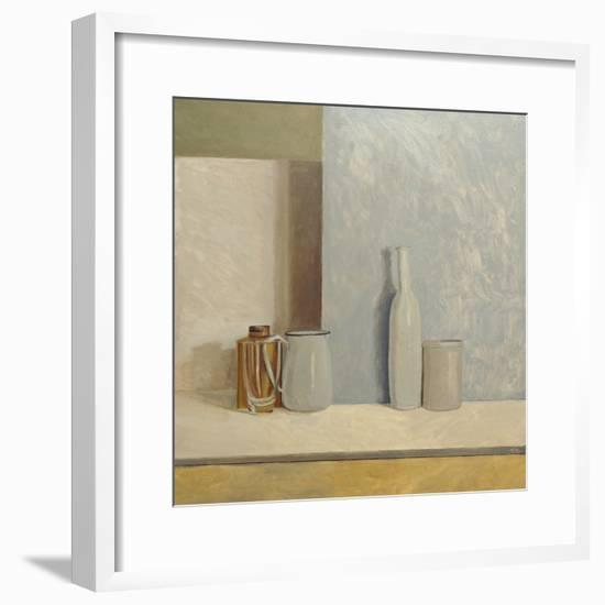 Pale Grey and Blue-William Packer-Framed Giclee Print