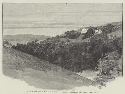 Pale, on the Dee, Near Bala Lake, Merionethshire, the Mansion Occupied by the Queen-Charles Auguste Loye-Giclee Print