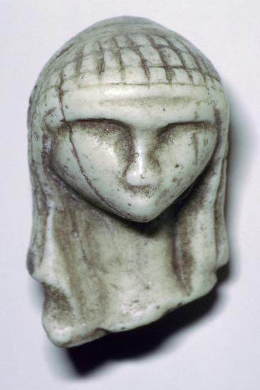 Paleolithic ivory female head. Artist: Unknown-Unknown-Giclee Print