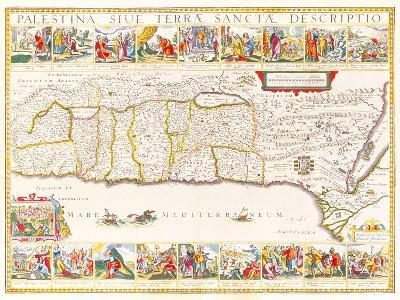 Palestina Sive Terrae Sanctae Descriptio, 1630-Jan Jansson-Premium Giclee Print