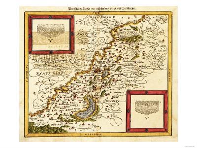 Palestine - Panoramic Map-Lantern Press-Art Print