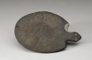 Palette en forme de tortue avec la tête seule indiquée