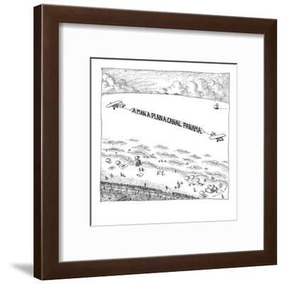 Palindromic sky-writer planes at the beach. - New Yorker Cartoon-John O'brien-Framed Premium Giclee Print
