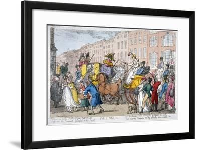 Pall Mall, 1807-Thomas Rowlandson-Framed Giclee Print