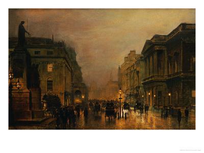 Pall Mall-John Atkinson Grimshaw-Giclee Print