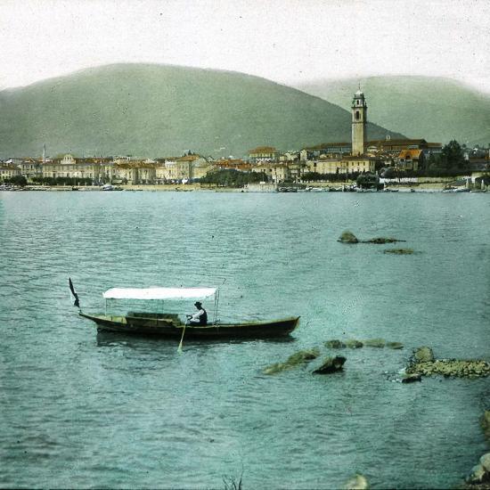 Pallanza (Italy), Boat on the Lago Maggiore-Leon, Levy et Fils-Photographic Print
