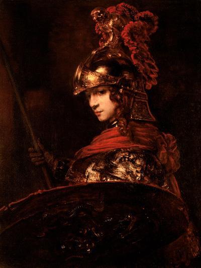 Pallas Athena Or, Armoured Figure, 1664-65-Rembrandt van Rijn-Giclee Print