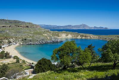 Pallas Beach in Lindos, Rhodes, Dodecanese Islands, Greek Islands, Greece, Europe-Michael Runkel-Photographic Print