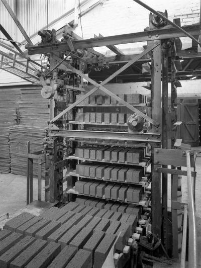 Palletising Machine at Whitwick Brickworks, Coalville, Leicestershire, 1963-Michael Walters-Photographic Print