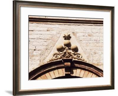 Pallotta Coat of Arms, Relief Decoration on Window Archivolt, Pallotta Castle--Framed Giclee Print