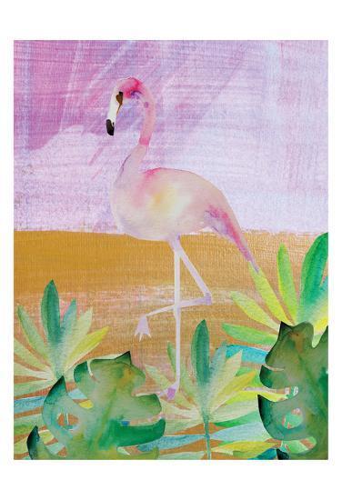 Palm Flamingo 3-Boho Hue Studio-Art Print
