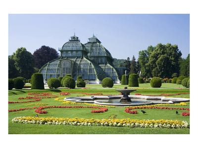 Palm House in the palace garden of Schoenbrunn Palace, Vienna, Austria--Art Print