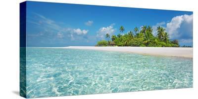 Palm island, Maldives-Frank Krahmer-Stretched Canvas Print