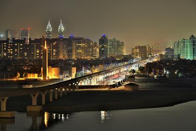 Palm Jumeirah Monorail to Atlantis Hotel Dubai-Xu Jian-Photographic Print