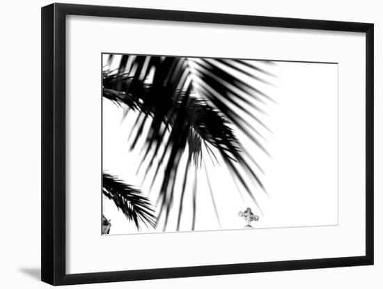 Palm Leaves, Cross, B/W-Nikky-Framed Photographic Print