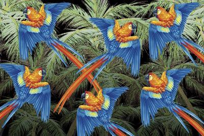 Palm Parrot-James Mazzotta-Giclee Print