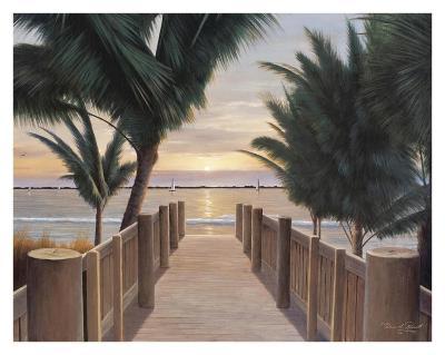 Palm Promenade-Diane Romanello-Art Print