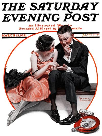 """Palm Reader"" or ""Fortuneteller"" Saturday Evening Post Cover, March 12,1921-Norman Rockwell-Giclee Print"