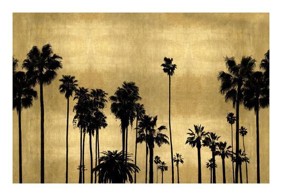 Palm Row on Gold-Kate Bennett-Giclee Print