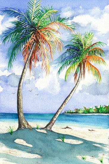 Palm Shadows-Christine Reichow-Art Print