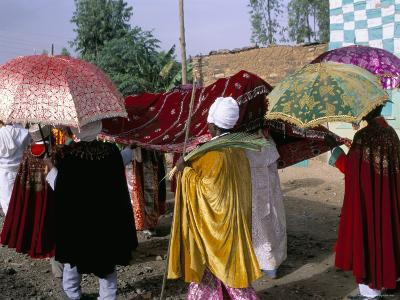 Palm Sunday Procession, Axoum (Axum) (Aksum), Tigre Region, Ethiopia, Africa-Bruno Barbier-Photographic Print