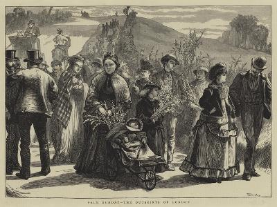 Palm Sunday, the Outskirts of London-William III Bromley-Giclee Print