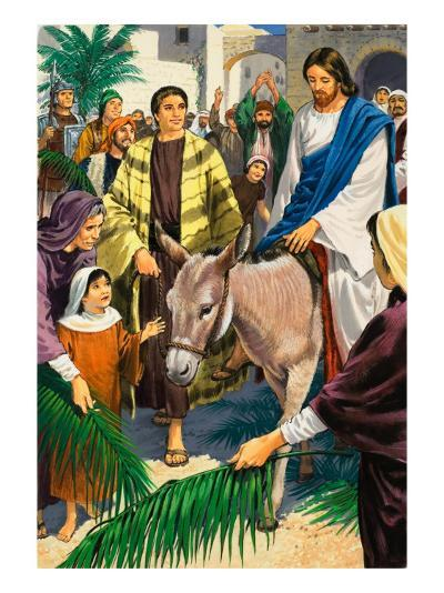 Palm Sunday-Clive Uptton-Giclee Print