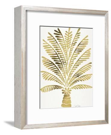 Palm Tree Gold-Cat Coquillette-Framed Art Print