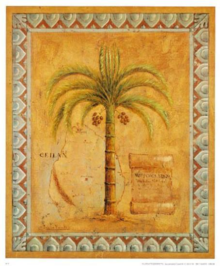 Palm Tree II-Javier Fuentes-Art Print