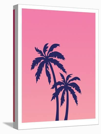 Palm Tree on Pink-Ashlee Rae-Stretched Canvas Print