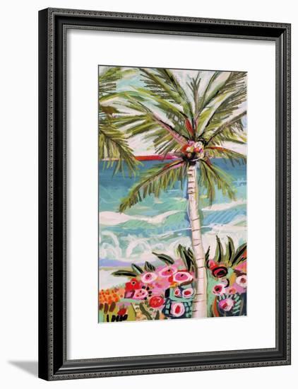 Palm Tree Wimsy II-Karen  Fields-Framed Art Print