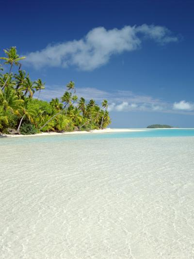 Palm Trees and Tropical Beach, Aitutaki Island, Cook Islands, Polynesia-Steve Vidler-Photographic Print