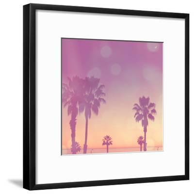 Palm Trees in California-Myan Soffia-Framed Art Print