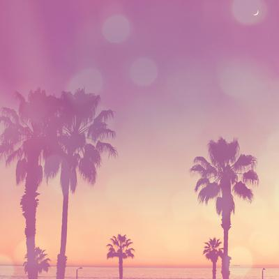 Palm Trees in California-Myan Soffia-Photographic Print