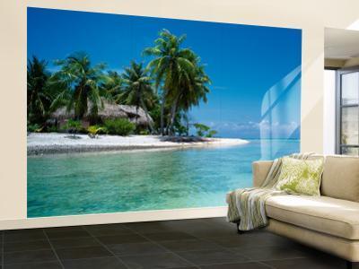 Palm Trees on the Beach, Tikehau, French Polynesia
