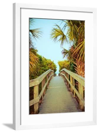 Palm Walkway I-Susan Bryant-Framed Premium Giclee Print