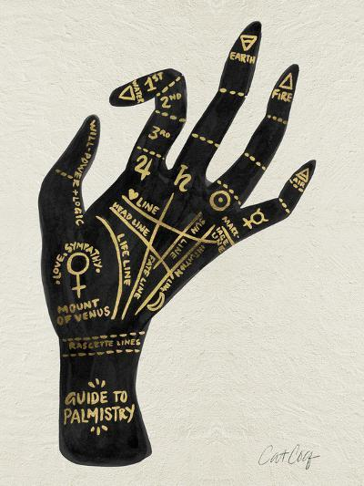 Palmistry Black And Gold-Cat Coquillette-Art Print