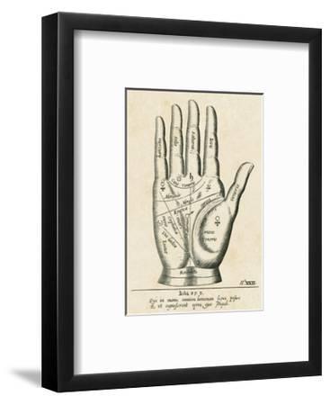 Palmistry: Palm Diagram--Framed Giclee Print