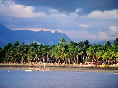 Palms and Beach, Sheraton Royale Hotel, Fiji-Peter Hendrie-Photographic Print