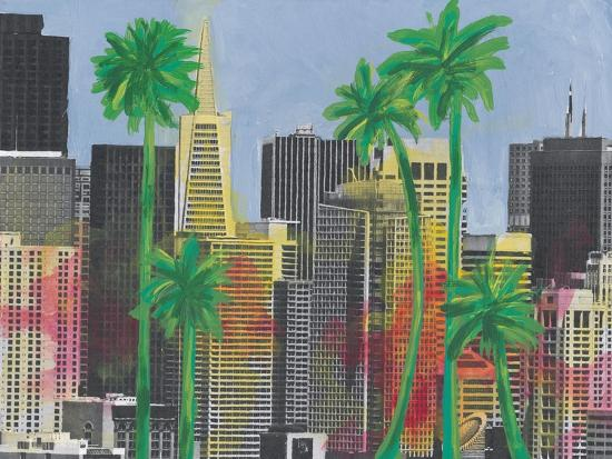 Palms in San Francisco-Jan Weiss-Art Print