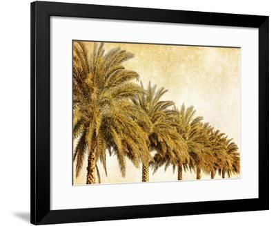 Palms on Brown I-Skip Nall-Framed Art Print