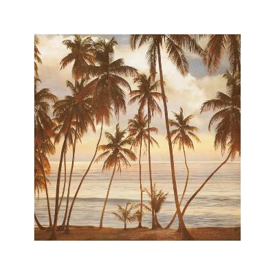 Palms on the Water I-John Seba-Giclee Print