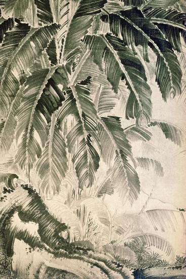 Palms Sumi on Paper-Jakuchu Ito-Giclee Print
