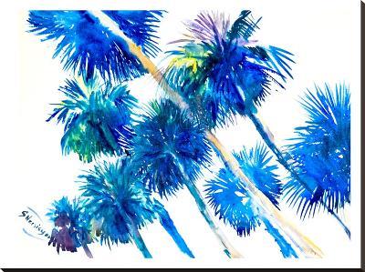 Palms-Suren Nersisyan-Stretched Canvas Print