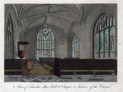 Interior of Lincoln's Inn Chapel, London, 1811 by Pals